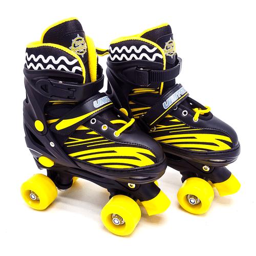 Patins 4 Rodas Roller Infantil + Kit De Proteçao