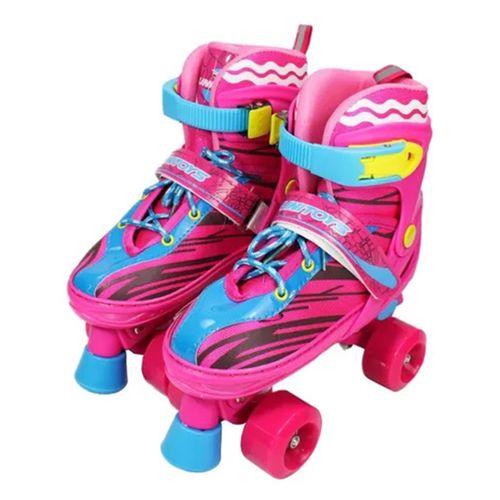 Patins 4 Rodas Roller Infantil + Kit de Proteção