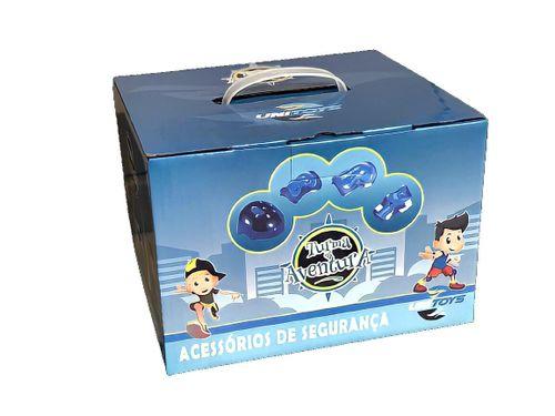 Kit Protecao Infantil Completo Capacete Joelheiras