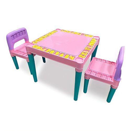 Mesa Educativa Infantil Mesinha Didática 2 Cadeira