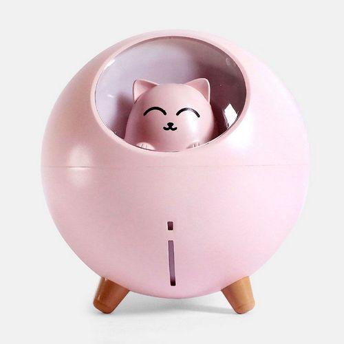 Mini Umidificador de Gato Rosa Multikids