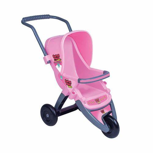 Carrinho de Boneca - 3 Rodas - Baby's Passeio - Rosa - Super Toys