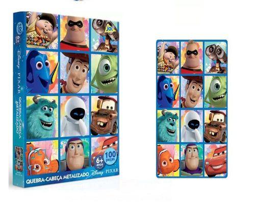 Quebra Cabeça Metalizado Disney 100 Peças - Toyster