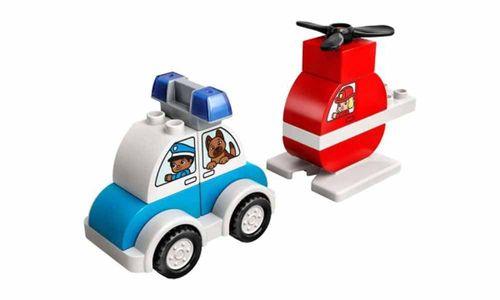 Lego Duplo 10957 Helicóptero dos Bombeiros e Carro da Polícia - Lego