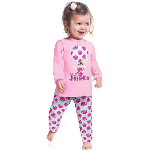 Pijama Infantil Feminino Blusa + Calça Kyly