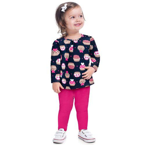 Conjunto Infantil Feminino Blusa + Legging Kyly