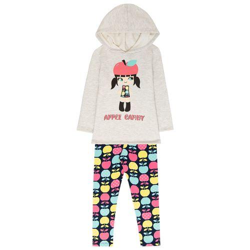 Conjunto Infantil Feminino Casaco + Legging Kyly