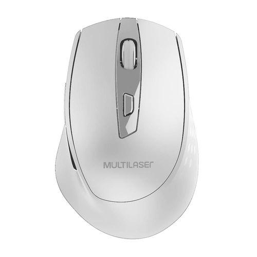 Mouse Sem Fio 2.4Ghz 1600 DPI 6 Botões Branco Usb Power Save Com Pilhas Inclusas - MO317
