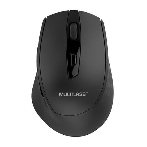 Mouse Sem Fio 2.4Ghz 1600 DPI 6 Botões Preto USB Power Save Com Pilhas Inclusas - Multilaser - MO311