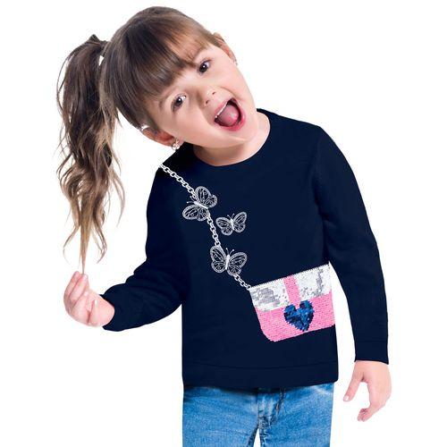 Blusa Infantil Feminina Kyly Moletinho