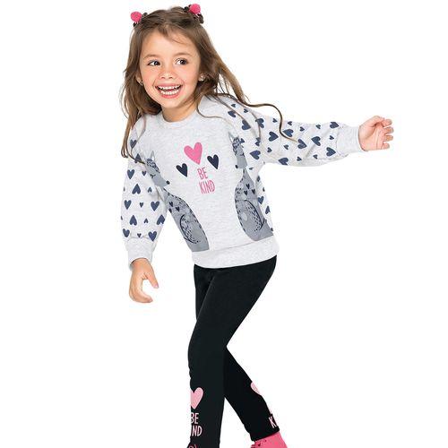 Conjunto Infantil Feminino Casaco + Legging Nanai