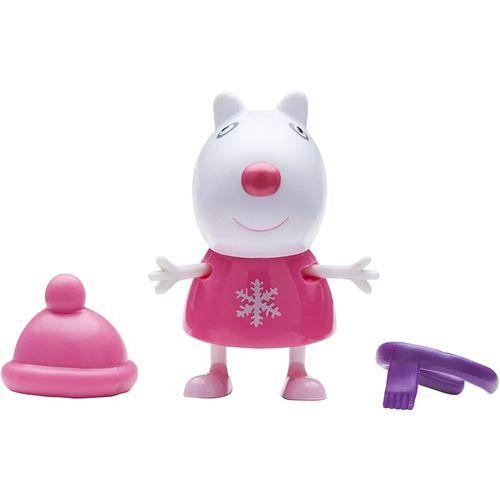 Figura Peppa Pig com Roupinhas - Suzy Ovelha Touca e Cachecol - Sunny