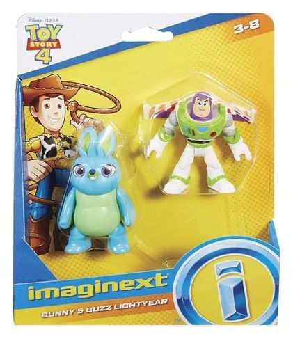 Figura Imaginext Toy Story Bunny e Buzz Lightyear - GBG89 -Mattel