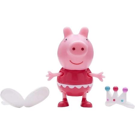 Figura Peppa Pig com Roupinhas Vestido Rosa e Tiara - Sunny