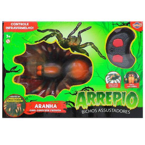 Aranha com Controle Remoto - Infravermelho - Arrepio - Bichos Assustadores - Toyng