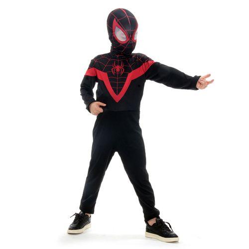 Fantasia Infantil Homem Aranha Preto Miles Morales com Máscara - Marvel