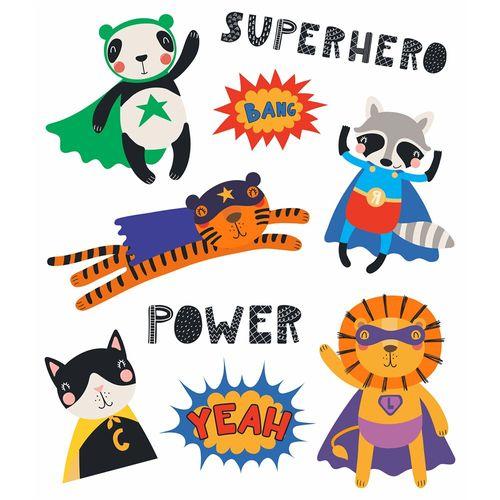 Tatuagem Temporária Infantil - Super Heróis - Tatufun