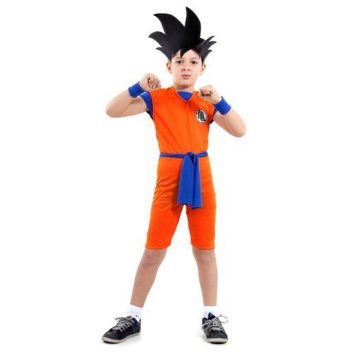 Fantasia Infantil - Dragon Ball Curto - Tamanho G (9 a 12 anos) - 16525 - Sulamericana