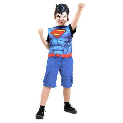 Fantasia Infantil - Peitoral Super Homem - Tamanho Único (3 a 6 anos) - 72111 - Sulamericana