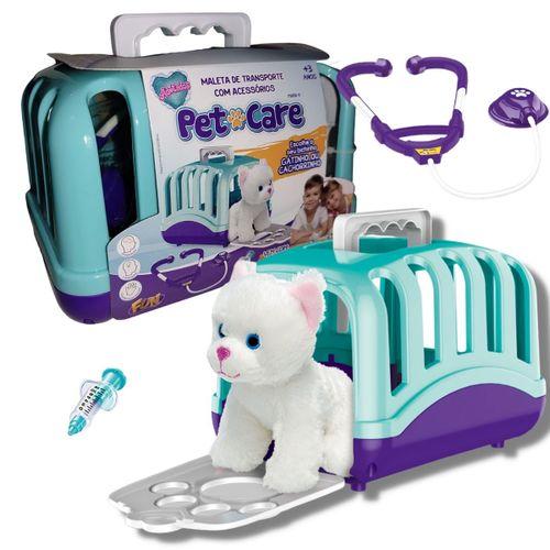 Pelúcia Cachorro Maleta de Transporte e Acessórios Pet Care