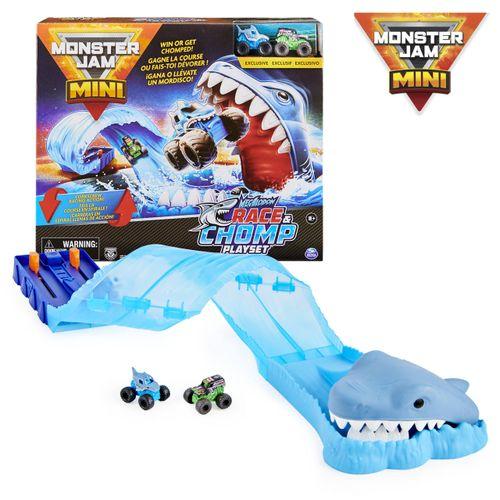 Monster Jam Mini - Megalodom Playset Race e Chomp - Sunny