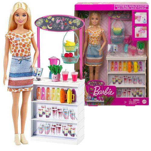 Boneca Barbie - Bar de Vitaminas com Acessórios - Mattel