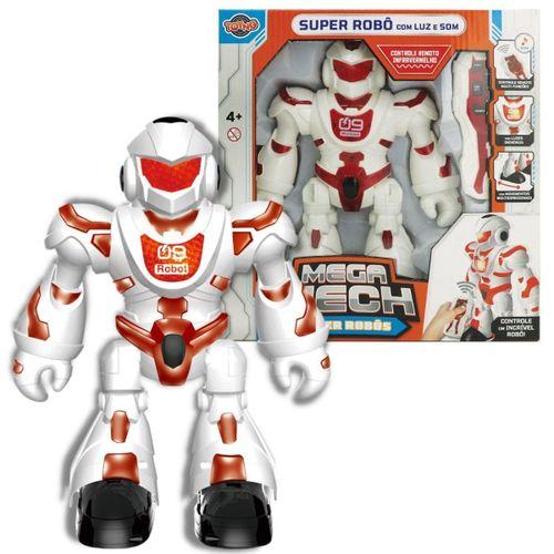 Boneco Super Robô com Luz Som Controle Remoto Multi Funções