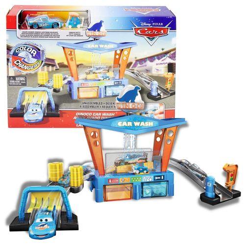 Playset Lava Rápido Dinoco - Carro Muda de Cor Cars Disney