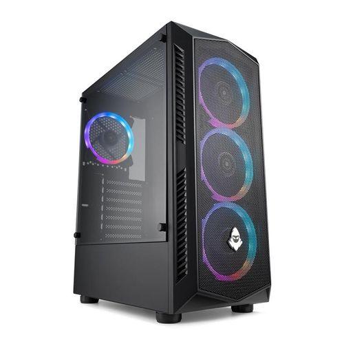 Gabinete Gamer Mancer AeroStorm, RGB, Mid-Tower, Lateral de Vidro, Preto, MCR-ASM-RGB01