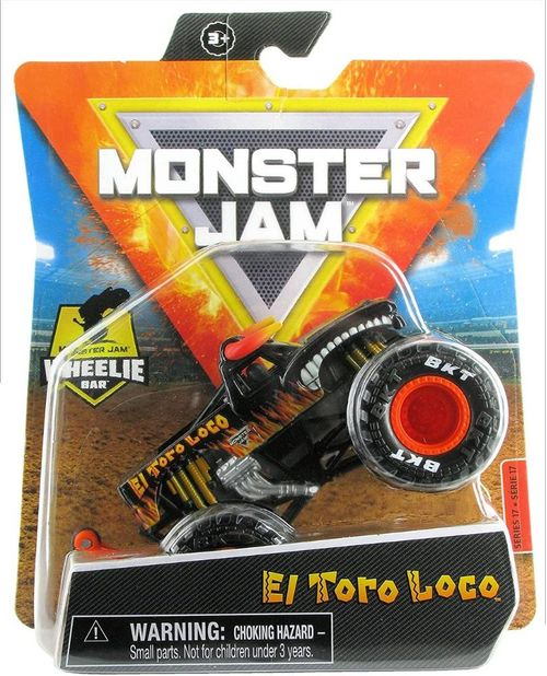 Carro Monster Jam Truck Wheelie Bar True Metal 1:64 - Sunny