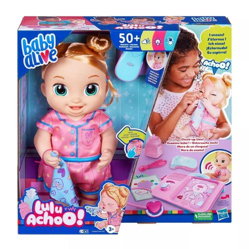 Boneca Baby Alive Lulu Achoo Hora do Exame Som e Luz Hasbro