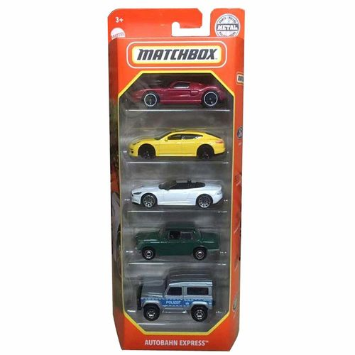 Matchbox Kit Com 5 Carrinhos Autobahn Express - Mattel GVY44