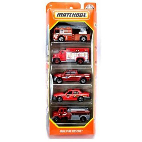Matchbox Kit Com 5 Carrinhos Mbx Fire Rescue - Mattel HCJ04