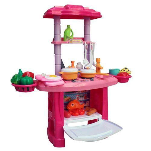 Cozinha Infantil Importway 43 Acessórios Rosa