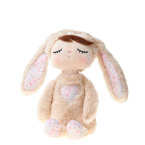 Boneca Bup Baby Metoo Angela Plush Tici Coelha Bege 33cm 3619