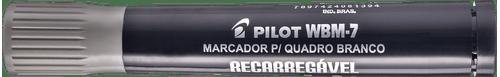 Pincel para Quadro Branco Recarregável WBMA Preto Pilot - Caixa com 12 Unidades-272620