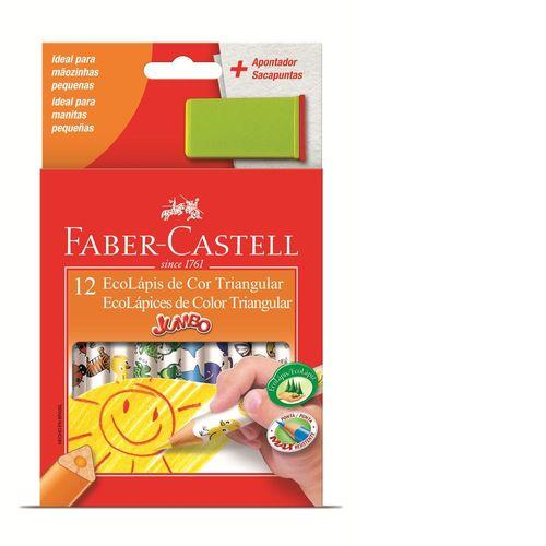 Lápis de Cor Jumbo Triangular - Faber-Castell - Estojo com 12 Cores-319198