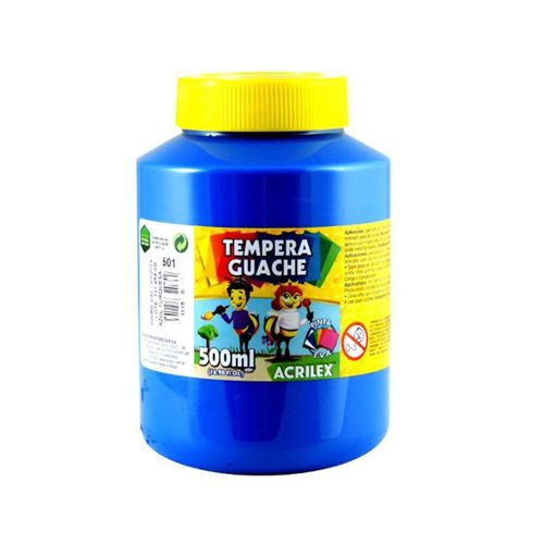 Tinta Guache 500ml Azul Turquesa 501 Acrilex-296090