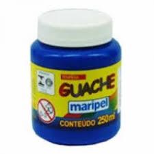 Tinta Guache 250ML Azul Escuro Maripel - 1 Unidade-135887