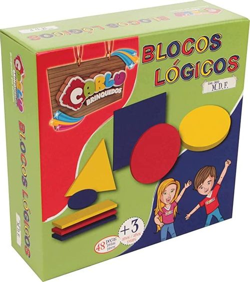 BLOCOS LOGICOS - MDF - 48 PC - CX. PAPEL