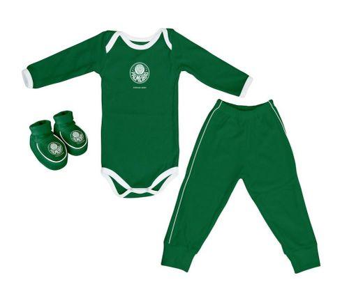 Kit Bebê Palmeiras 3 Peças Longo - Torcida Baby
