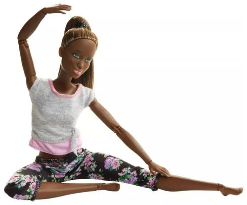 Boneca Barbie Feita para Mexer Yoga Nikki To Move Articulada - Mattel