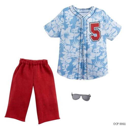 Ken Roupas e Acessórios - Ken Roupas e Acessórios - Camisa havaiana e Shorts