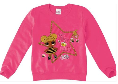 Moletom Lol Surprise - Rosa - Queen Bee - Malwee