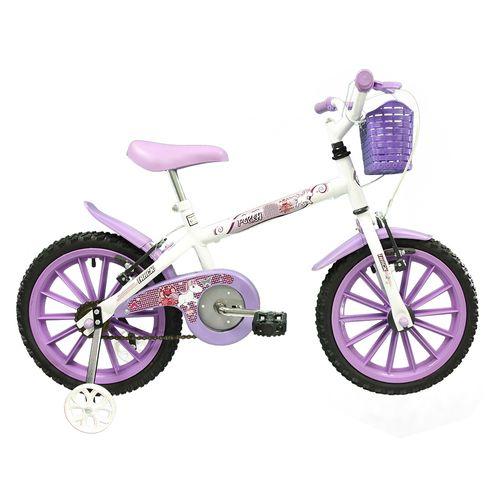 Bicicleta - Aro 16 - Pink - Infantil - Tk3-Track - Lilás