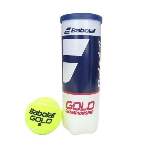 Bola de Tênis Babolat Gold Championship Tubo 3 Bolas