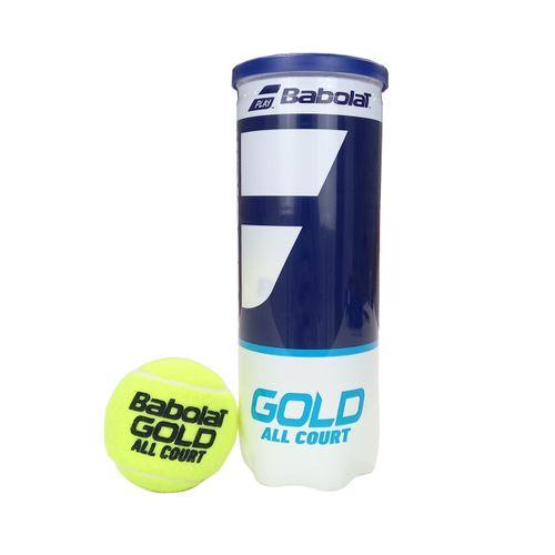 Bola de Tênis Babolat Gold All Court Tubo 3 Bolas