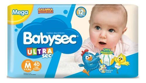 Fralda Descartável Ultra Sec Tam M/40 Un - Babysec