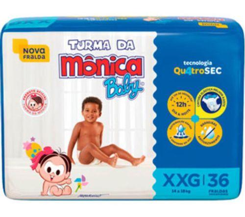 Fralda Descartável Mega Tam XXG 36 Un - Turma Da Mônica