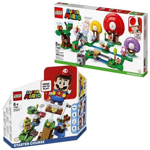 LEGO Super Mario - Aventuras De Mario - Fase 1 - 71360 + R$ 0,06 Leve Caça Ao Tesouro De Toad